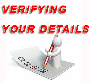 verifying your details